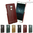 Pierre Cardin Genuine Leather Hard Back Case Bumper Cover Skin For Huawei Mate S