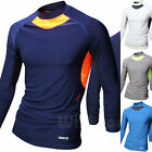 Mens Beach Water Sports Rash Guard Wetsuits Long Sleeve Top Summer Swimwear M475
