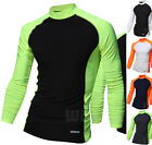 Mens Beach Water Sports Rash Guard Wetsuits Long Sleeve Top Summer Swimwear M478