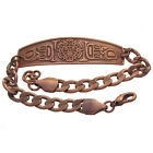 Solid Copper Bracelet Northwest Native Sun Handmade Western Jewelry Chain Link