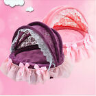 Washable Lace Bow Kennels Pet Bed Dog Cat Tent House luxury Princess sofa Bed