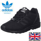 Adidas Originals Boys ZX Flux Trainers Lace Up Black Kids Low Top Running Shoes