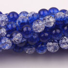 Crackle glass loose beads various colors & amounts (8 mm beads)