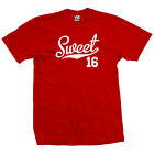 Sweet 16 Script Tail Shirt - 16th Birthday Sports Athlete - All Sizes & Colors
