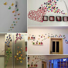 12pcs 3D Butterfly Art Decal House Decor 4 Colours PVC Butterflies Wall Stickers