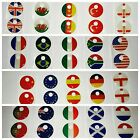 10x Key Kapz Novelty ID Sticker Top World Flags Keyring Cap Covers
