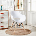 Olivia Eiffel Armchair Dining Lounge Tub Chair Wooden Legs Scandinavian Modern