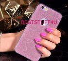 GLITTER SPARKLY BACK Fits IPhone Soft Bling Shock Proof Silicone Case Cover *72