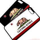 For iPhone 7 Plus California Republic Flag Hard Rubber TPU Flex Cover Case
