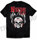 031 Hells Angels NorthSide Spain black T-Shirt model 6 Front printed