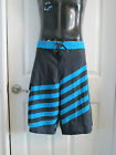 Mens Swim Trunks  Board Shorts NWT Black Blue OP size 30 size 32 size 34