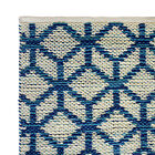 Hand Woven Rugs 45% Wool/55% Cotton - Geometric Design