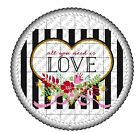 Valentine's Day All You Need Love image cake topper frosting sheet #19756