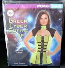 Green Cyber Gothic Top Womens Costume ~ Size S (4-6) or L (12-14) ~ Cosplay NIP