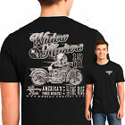 Mens Tall Biker T Shirt Widow Maker Vintage Bobber Motorcycle Indian Skeleton