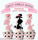 French Poodle Paris Party 15 EDIBLE wafer Cupcake Toppers PRECUT cup cake