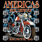 Route 66 T Shirt State Highway Signs Road Trip Souvenir Small to 6XL and Tall