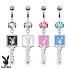 New Playboy Bunny Key 316L Surgical Steel Navel Ring. Playboy Belly Button Ring