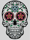 Cross stitch chart, pattern. Day of the dead, Sugar, Skull, Calavera, Mexico #11