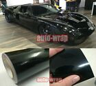 All Sizes Newest Mirror Glossy Car Paint Vinyl Wrap Film Sheet Stickers Black AA