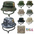 Bucket Hat Camo Cap Hiking Hunting Fishing US Army Military Sun Cover Visor Caps