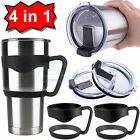 2PCS Handle+2PCS Lid for RTIC YETI Ozark Trail Rambler 30 Oz Tumbler Cup Holder