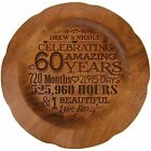 Personalized 60th Wedding Anniversary Round Plate Custom Engraved