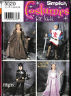 Simplicity 5520 Pattern Viking Knight Princess Maiden Child Cosplay Size A 3-8