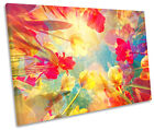 Floral Flower Petals Abstract CANVAS WALL ART Picture Print Single