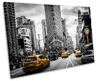 New York Yellow Taxi Cabs City CANVAS WALL ART Picture Print Single