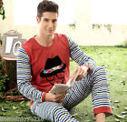 Lovely New Fall Leisure Cotton 2PCs Men's Long Sleeves Pajama Sets L/XL/2XL/3XL