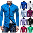 Fashion Mens Luxury Casual Stylish Slim Fit Long Sleeve Casual Dress Shirts New