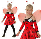 Girls Ladybird Bug Fancy Dress Insect Costume