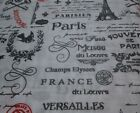 NEW JACQUELEEN ROSE COTTAGE FRENCH SCRIPT PARIS TWIN QUEEN SHEET SET BLACK WHITE