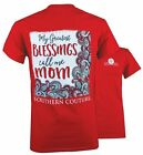 Southern Couture Greatest Blessing Call Me Mom Bright Girlie T-Shirt