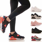 LADIES WOMENS TRAINERS LACE UP P.E GYM RUNNING JOGGING FITNESS SHOES SIZE 3-8