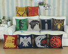Pak of 2 CaliTime A Game of Thrones Houses Cushion Cover Pillow Case Decor 45cm