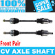 Front 2x CV Joint Axle Shaft for GEO METRO 95-97 L4 1.3L Standard Transmission