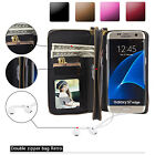 Multifunction Leather Zipper Removable Wallet Phone Case For Samsung Galaxy