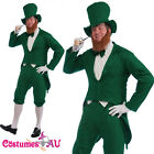 Mens Gents Green St Patricks Day Costume Irish Man Leprechaun Adults Outfit Hat