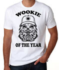 Star Wars Chewbacca Wookie Of The Year Sci-Fi Action Movie Funny White T Shirt $25.95 AUD