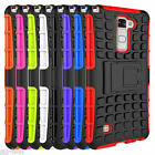 Stand Hard Armor Heavy Duty Hybrid Skin Case Cover For LG Stylo 2, LS775
