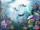 3D Corals And Dolphins 1128 Wallpaper Decal Dercor Home Kids Nursery Mural Home