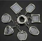 New 6 Style Creative Metal Photo Frame key chain personality key ring Lover Gift