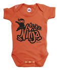 Funny Baby Grow Ginger Ninja Boys Girls Unisex Vest Funny Gift Baby Shower