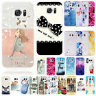 Patterned Back Silicone Soft TPU Ultra Slim Gel Case Cover For Samsung S7 Note 5