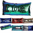 """Reversible Sequin Glitter Cushion Cover Pillow Case Home Sofa Cover 11.8""""×23.6"""""""