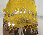 KIDs 3 Rows Gold Silver Coin Belly Dance Costume Hip Scarf Skirt Belt Dance Wrap