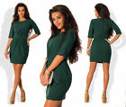 2017 Spring Women Half sleeve O-Neck Dress Casual Solid Color Tunic Slim dresses
