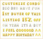 "Customize 16""&40"" Silver & Gold Foil Letter Number Balloons Party Birthday Decor"
